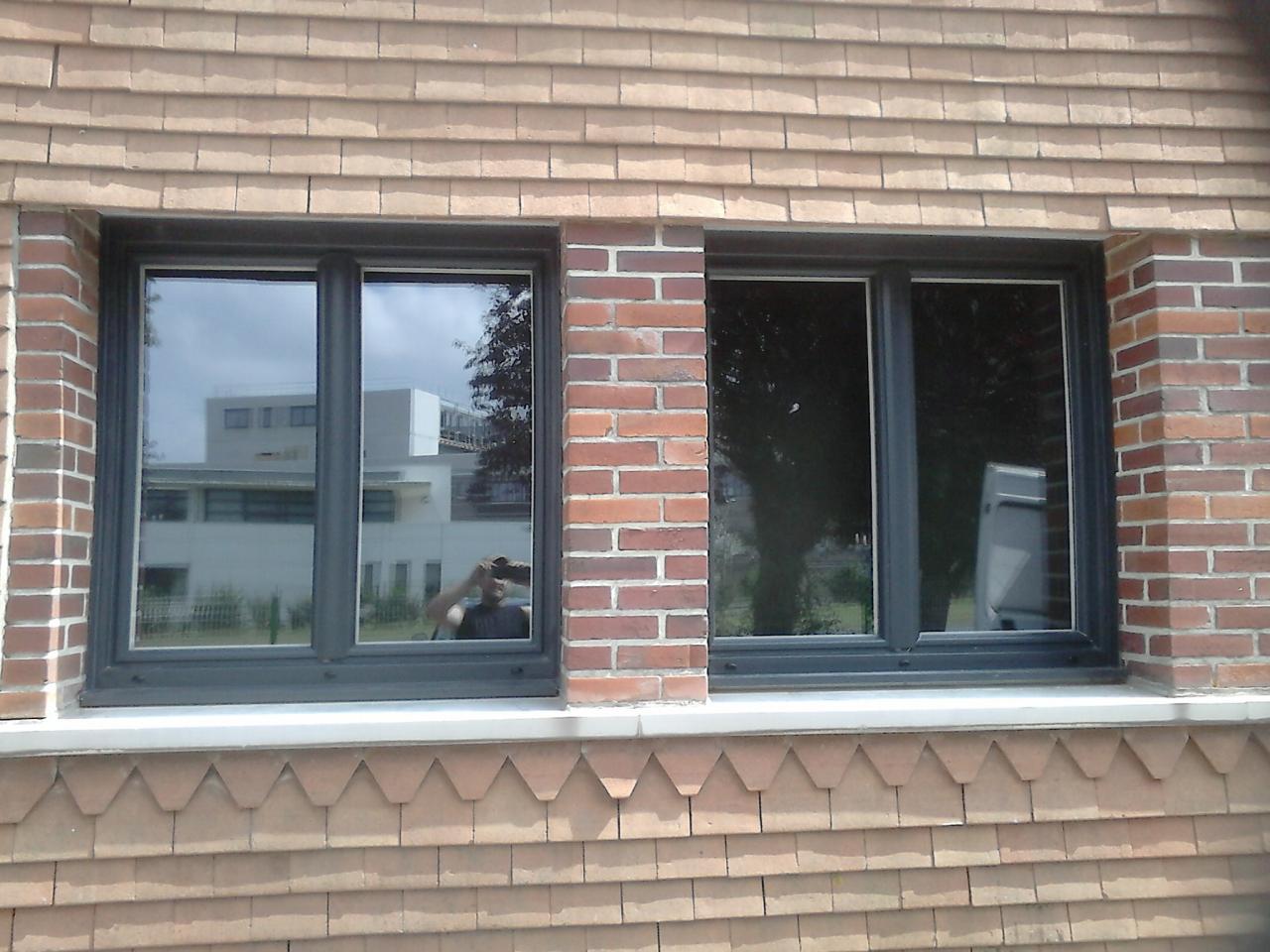 Fenêtre PVC gris